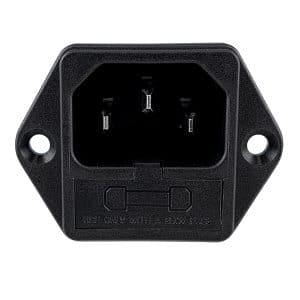 719W-00/04 C14 AC Power Inlet with Fuseholder