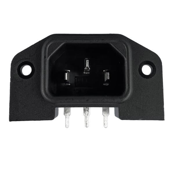 IEC 60320 C14 AC Power Inlet Angled Inlet PCB Mount