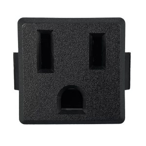 NEMA 5-15R Snap-in AC Power Outlet with Solder Terminals