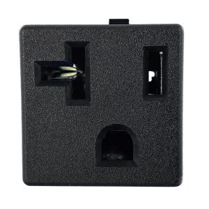 NEMA 5-20R Snap-in AC Power Outlet with PCB Terminals