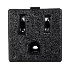 NEMA 5-15R Snap-in AC Power Outlet with PCB Terminals
