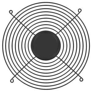 254mm Wire Form Fan Guard, Black