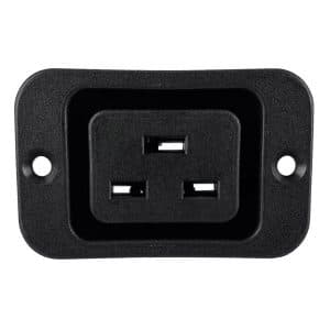 "IEC 60320 C19 Screw Mount AC Power Outlet with 0.187"" Terminals"