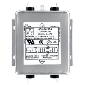 850-20/004 Two-Stage Multi-Purpose Chassis Mount EMI Filter