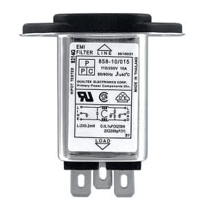 """858-10/015 Screw Mount IEC 60320 C14 Inlet Filter with 0.250"""" FASTON Terminals"""