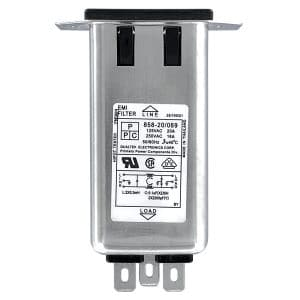 """858-20-069 Screw Mount IEC 60320 C20 Inlet Filter with 0.250"""" FASTON Terminals"""