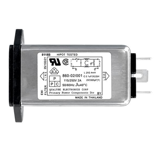 Single Fused Screw Mount IEC 60320 C14 Inlet Filter