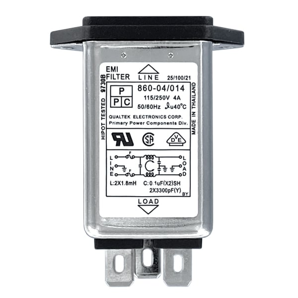 General Purpose Screw Mount IEC 60320 C14 Inlet Filter