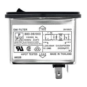 Dual Fused Screw Mount IEC 60320 C14 Inlet Filter with DPST Switch