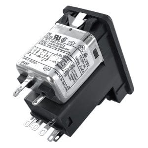 Single Fused Snap-in IEC 60320 C14 Inlet Filter with DPST Switch