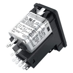 Dual Fused Snap-in IEC 60320 C14 Inlet Filter with DPST Switch