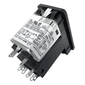 Single Fused Snap-in IEC 60320 C14 Inlet Filter DPST Switch
