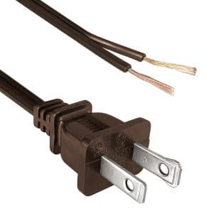 "North American Power Cord NEMA 1-15P Polarized to Split 1 1/2"", Strip 5/8"""