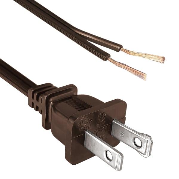 "North American Power Cord NEMA 1-15P Polarized to Split 1 1/2"", Strip 5/8"""
