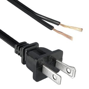 North American Power Cord NEMA 1-15P Polarized to Split, Strip 5/8""
