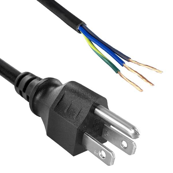 "North American Power Cord NEMA 5-15P to ROJ 2"", Strip 5/8"""