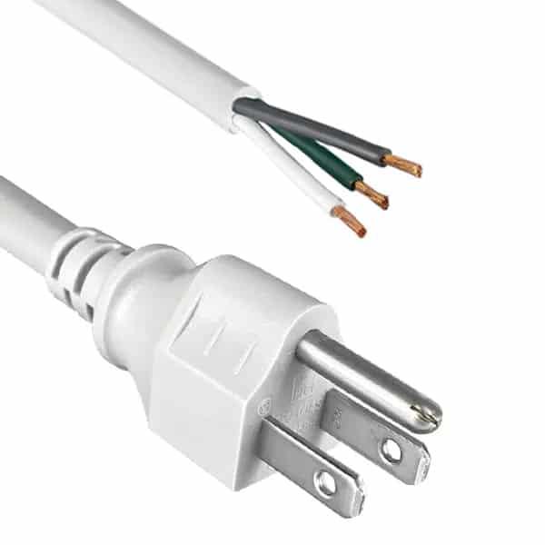 "North American Power Cord NEMA 5-15P to ROJ 2"" Strip 5/8"