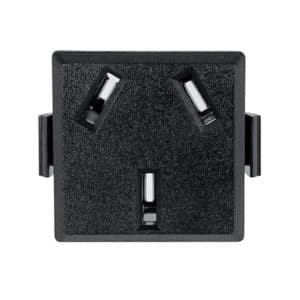 China Receptacle, CH1-10R Snap-in AC Power Outlet