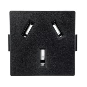 China Receptacle, CH2-16R Snap-in AC Power Outlet